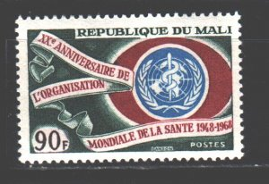 Mali. 1968. 162. 20 years of WHO. MNH.