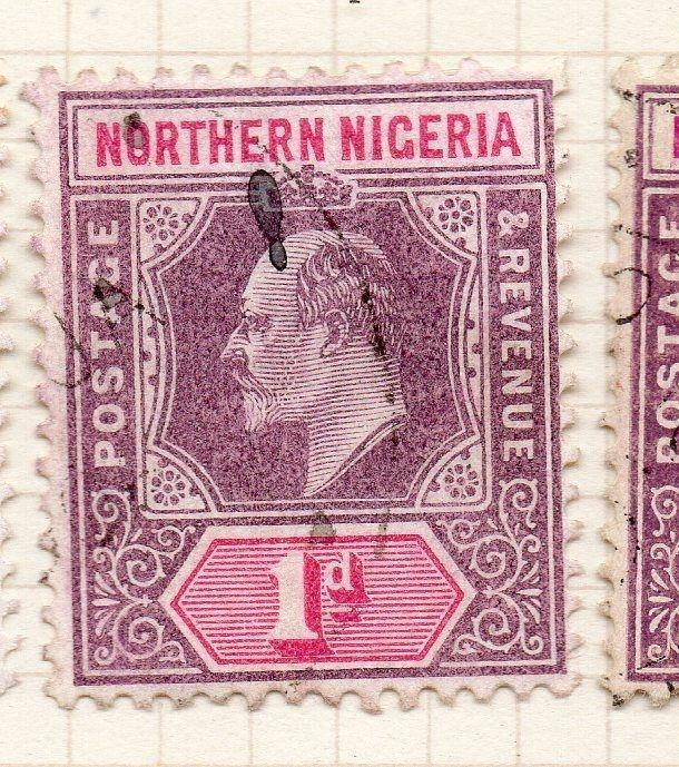 Northern Nigeria 1904 Early Issue Fine Used 1d. 123373