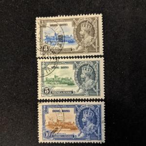Hong Kong 147-9 XF, CV $10.50