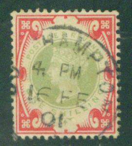 Great Britain Scott 126 Victoria 1 Shilling 1900 CV$140