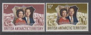 British Antarctic Territory 43-44 MNH VF