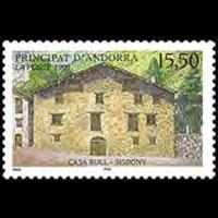 ANDORRA FR. 1999 - Scott# 514 Casa Rull Set of 1 NH