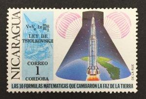 Nicaragua 1971 #880, Tsiolovski's Law, MNH(see note).