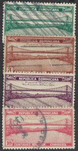 DOMINICAN REPUBLIC 295-98 USED, $2.90 BIN $1.15 BRIDGES