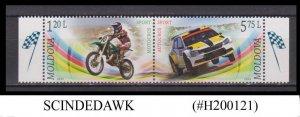 MOLDOVA - 2015 SPORTS MOTOCROS & AUTOCROS - 2V SE-TENANT MNH