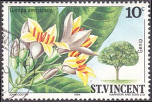 Saint Vincent # 720 used ~ 10¢ Flowering Tree - Genip