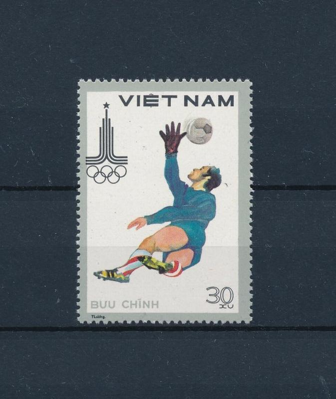 [60798] Vietnam 1980 Soccer Football Olympic games Moscow from set MNH
