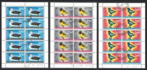 Senegal Weaver Duck Bateleur Birds 3v Sheetlets of 10 sets 1968 Canc