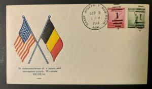 1944 We Salute Belgium Camp Joseph T Robinson WWII Patriotic Cover