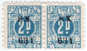 (I.B) Cinderella Collection : Trading Stamp 2d (The Saving Stamp Co)