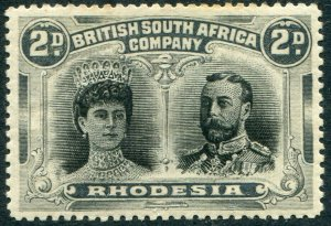 RHODESIA-1910-13 2d Black & Grey Sg 126 AVERAGE MOUNTED MINT V48383