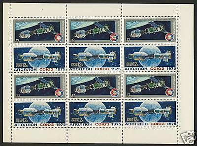 USSR (Russia) 4340a Sheet MNH Space, Apollo & Soyuz