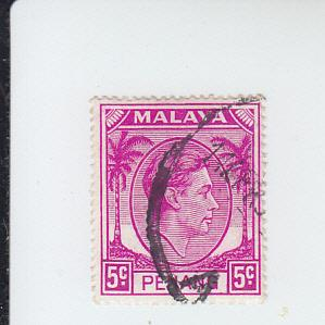 1952 Malaya Penang KGVI (Scott 7) Used