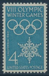 #1146 4c WINTER OLYMPIC GAMES SUPERB OG NH GEM WITH PSE 100 CERT BU8677