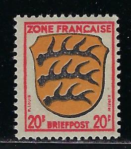Germany - under French occupation - Scott # 4N8, mint nh