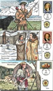 US Collins FDC SC#3854-3856 Lewis & Clark Expedition Bicentennial 8