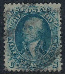 US #72a CV $650.00  Two sealed tears do not detract from a beautiful stamp