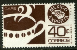 MEXICO EXPORTA 1111a, 40¢. COFFEE PAPER 1, CLARET BROWN. MINT, NH. VF.