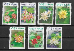 Vietnam Used 1849-55 Flowers