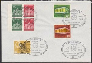 GERMANY 1974 cover - Football World Cup commem cancels......................K314
