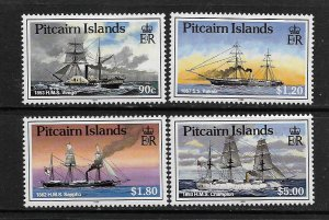 PITCAIRN ISLANDS,306-309, MNH, SHIPS