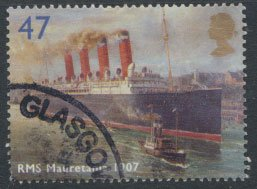 Great Britain SG 2451 SC# 2205  Used RMS Mauretania  see details