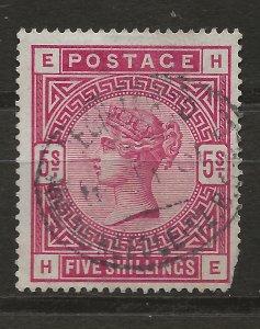 Great Britain 108 SG 188 Used SOTN Short corner VF 1884 SCV $250.00 (jr)