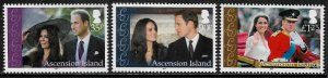 Ascension #1030-2 MNH Set - Royal Wedding