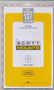Prinz Scott Stamp Mount 137 / 265 BLACK Background Pack of 10