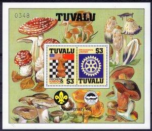 Tuvalu 1986 SG#376  Chess/Rotary/Fungi/Scouts S/S Decorative Border MNH