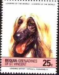 Dog, Afghan Hound, St Vincent Grenadines Bequia SC#178b mint