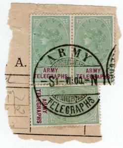 (I.B-BOB) QV Telegraphs : Army Telegraphs 15/- (Standerton - Boer War)
