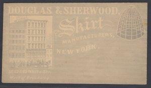 US, Douglas & Sherwood Skirt Manufacturing unused Advertising cover