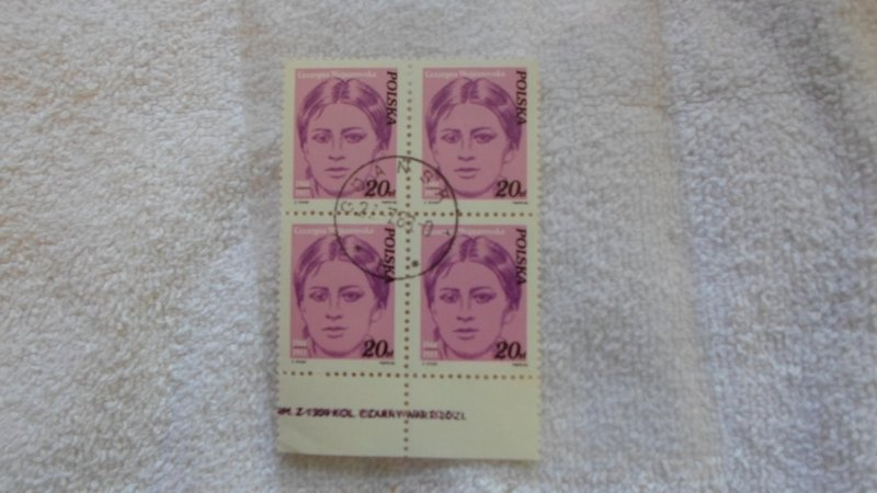 1982 POLAND BLOCK OF 4 STAMPS . CTO. MNH.