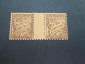 Monaco 1905 Sc J9 Gutter pair Mh/MNH