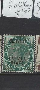 INDIA  PATIALA  (PP0704B)  QV 1/2A  SG O8  MOG