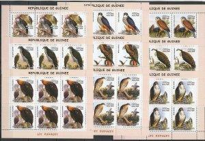 KV257 2002 GUINEA NEW FAUNA BIRDS LES RAPACES HUNTERS EAGLES !!! 6SET(9KB) MNH