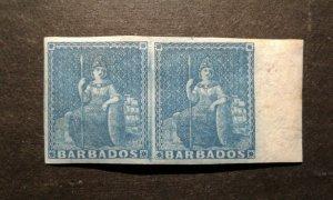 Barbados #2 mint hinged pair e205 9310