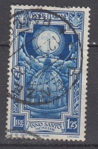 J29695, 1933 italy used #313 cross in halo
