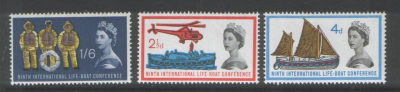 Great Britain 1963 Lifeboat (3)  Scott #395-7