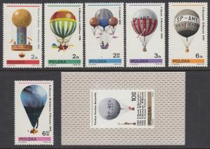 Poland 2433-9 Balloons mnh
