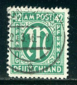 Germany AM Post Scott # 3N16, used, variation