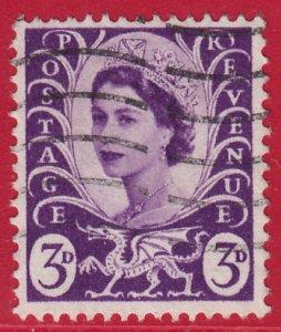 GB Wales - 1958 - Scott #1 - used - Elizabeth II