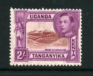 KUT 1938 KGVI 2/- perf 13¼ SG 146 mint. Kenya Uganda Tanganyika