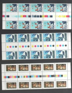 Australian Stamps MUH 1981-84 24c Yachting Disabled Christmas Gutter blocks MINT