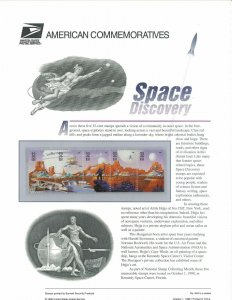 USPS COMMEMORATIVE PANEL #553 SPACE DISCOVERY #3238-3242