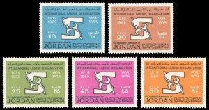 Jordan 1969 Scott #565-569 Mint Never Hinged