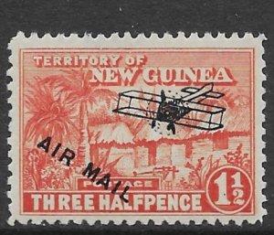 New Guinea C-3  1931  three half pence unused
