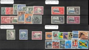 Lot of 42 Jamaica MH Mint Hinged Stamps Scott Range 38 - 686 #142864 X R