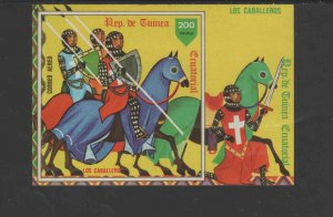 EQUATORIAL GUINEA 1978  ENGLISH KNIGHTS     MINT  VF NH  O.G  S/S IMP.  (EQ35  )